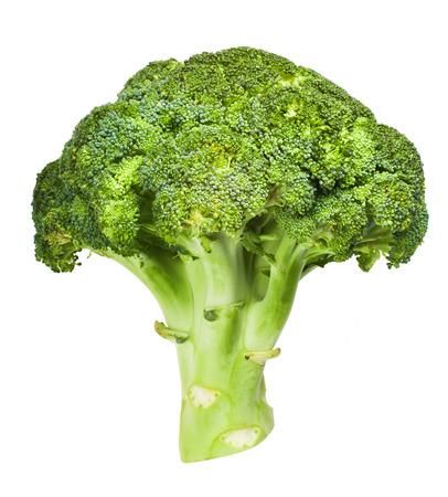 cruciferous: broccoli isolated on white Stock Photo