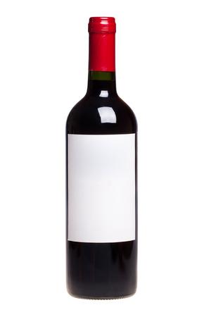 bouteille de vin: bouteille de vin blanc isolé Banque d'images