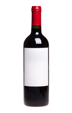 wine bottle isolated on white Stock Photo