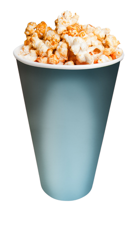 pursuits: popcorn isolated on white