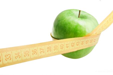 fructose: apple and measure tape