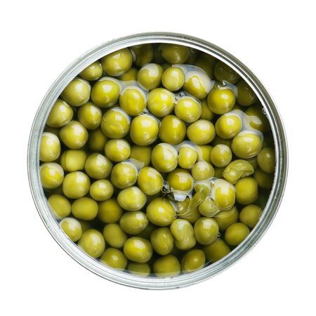 green pea: canned green pea Stock Photo
