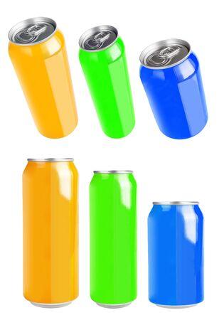 aluminium: aluminium can isolated on white