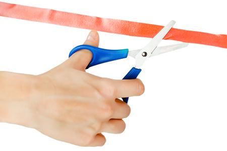 cutting: cutting ribbon
