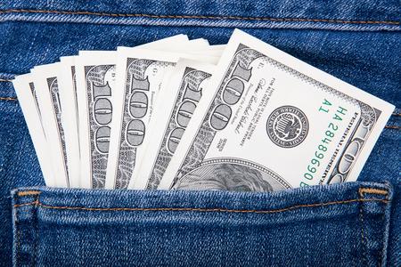 notecase: money in my pocket