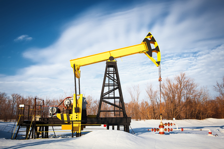 industrial objects equipment: oil pump jack