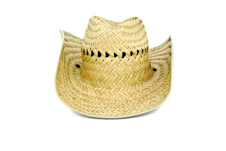 resistol: sombrero de paja aislados en blanco