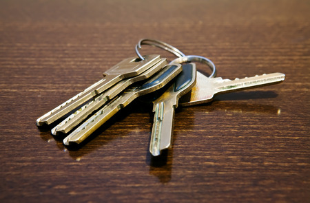 carelessness: keys upon the table Stock Photo