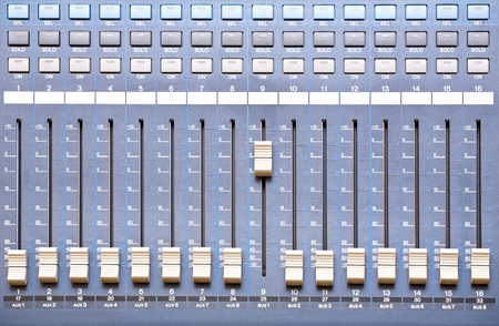 equalize: sound control panel Stock Photo