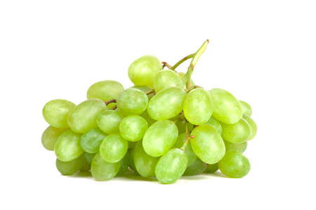 white grape: bunch of grape isolated on white