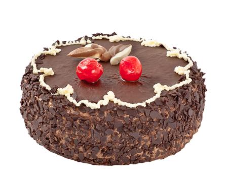 chocolaty: chocolate cake isolated on white
