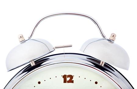 beat the clock: alarm clock isolated on white