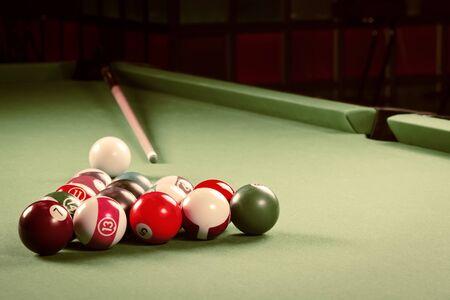 pool game: Billiards. Pool game. Stock Photo