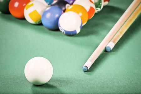 billiards halls: Billiards. Pool game. Stock Photo