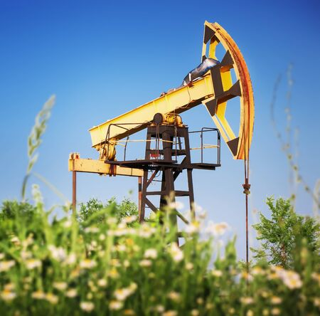 industrial objects equipment: oil rig pumpjack