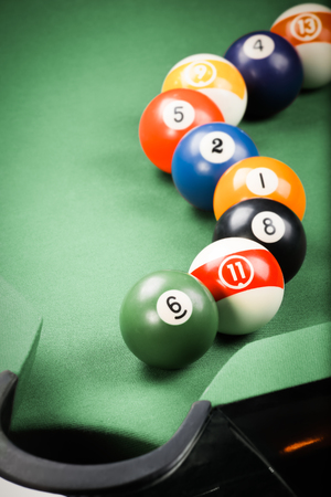 pool game: billiard. pool game Stock Photo