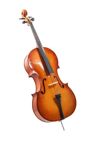 cello isolated on wihte Stock Photo