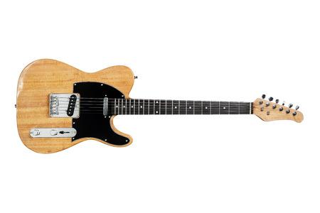E-Gitarre, isoliert auf weiss Standard-Bild - 68555636