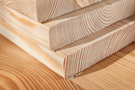 wooden plank stack