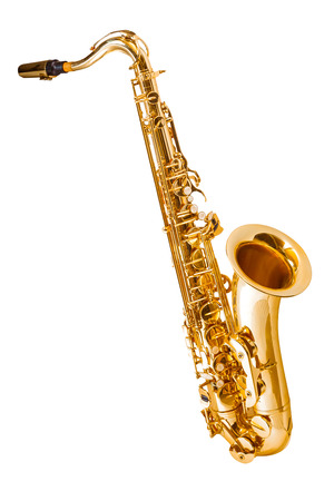 saxophone isolated on white