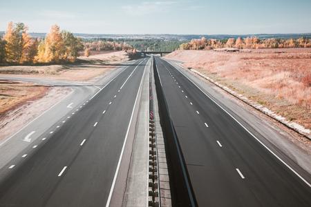 empty highway Banco de Imagens