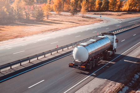 fuel tanker truck. freight transportation.