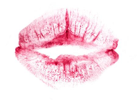 lipstick kiss Standard-Bild - 97137036