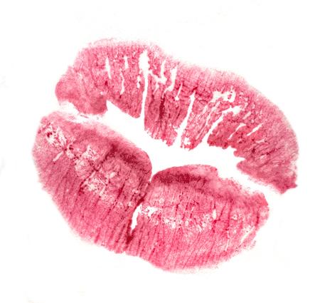 lipstick kiss print Standard-Bild - 97061522