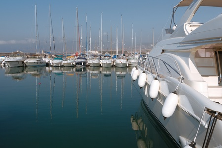 polis: Boats moored in harbour near Polis city, Cyprus