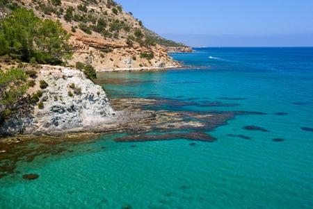 Beautiful sea landscape rocks, Cyprus. Zdjęcie Seryjne