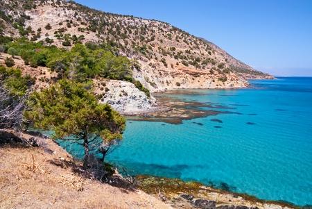 Beautiful sea landscape rocks, Cyprus.
