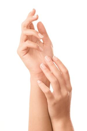 French manicured nails - isolated on white background