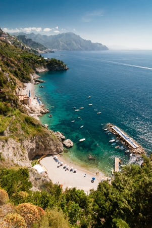 View of the Amalfi Coast of Tyrrhenian Sea  Campania, Italy   Photo taken in June 2012