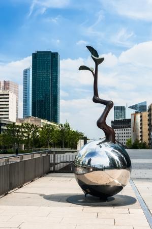 la defense: Sculpture on the street in La Defense, a major business district near Paris, France  Stock Photo