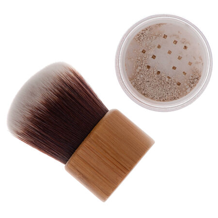 Mineral make-up cosmetics close-up isolated  photo