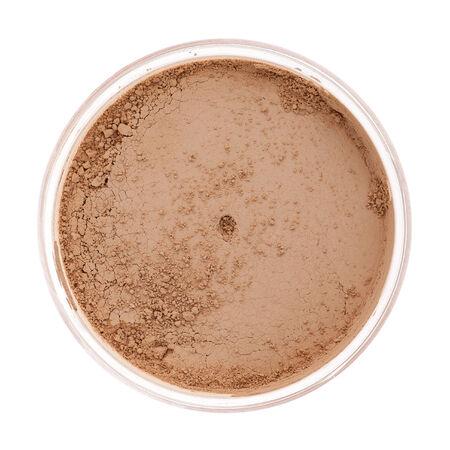 Minérales cosmétiques de maquillage close-up isolé