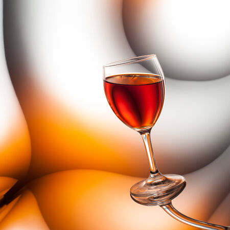 curvature: Red wine surreal