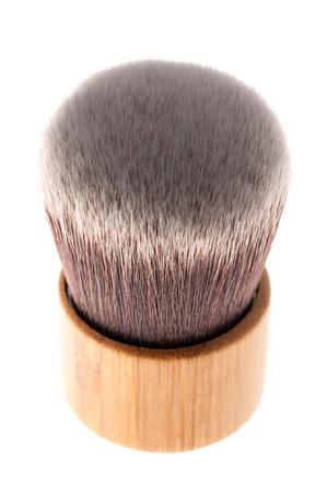 kabuki: Kabuki brush for mineral make-up, isolated. Stock Photo