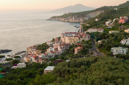 sorrento: Soft early evening light illuminates the southern Italian resort town of Sorrento