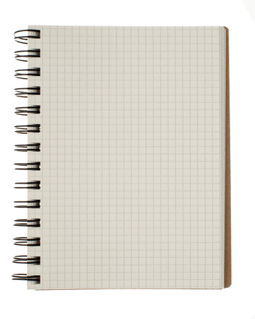 Spiral notebook isolated on white background photo