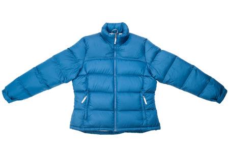 Down jacket isolated on white background. Stock Photo