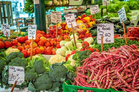 farm shop: Vegetables at a farmer