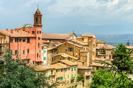 Old town Montepulciano, Tuscany, Italy photo
