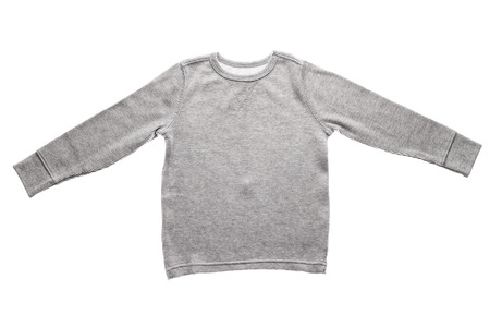 sleeve: Photograph of  blank gray long sleeve shirt isolated on white background.