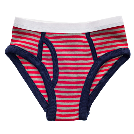 jungen unterwäsche: Rot gestreiften Hose des Jungen auf einem wei�en Hintergrund