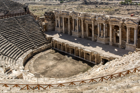 The Roman Theatre in the ancient city Hierapolis, Pamukkale, Turkey. UNESCO World Heritage site. Standard-Bild