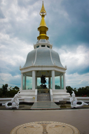 goodly: inside view of white pagoda Wat Thung Setthi temple at thailand