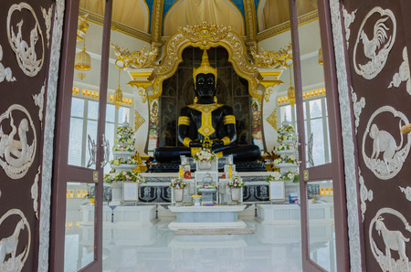 goodly: Buddha statue in white pagoda Wat Thung Setthi temple at thailand Editorial
