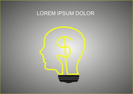 more money: light lamp think concept, think to make more money