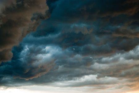 moody sky: stormy weather